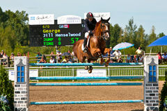 Horse Rider at the Bromont jumping competition Royalty Free Stock Photography