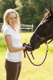 Horse rider and horse Stock Photos