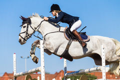 Equestrian Horse Rider Jump Girl