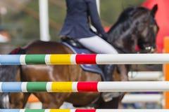 Horse Rider Poles Stock Photo