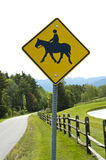 Horse and rider road sign Royalty Free Stock Photos