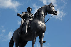 Horse and rider statue Royalty Free Stock Photos
