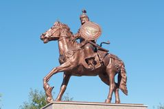 Horse rider statue Royalty Free Stock Images