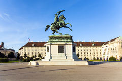 Horse and rider statue of archduke Royalty Free Stock Photography