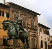Horse and rider statue florence Royalty Free Stock Photo
