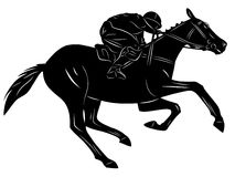 Horse rider, vector illustration Royalty Free Stock Photography