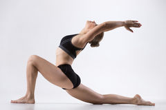 Horse rider yoga pose Stock Photography