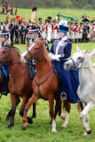 Horse riders at Borodino battle historical reenactment in Russia Royalty Free Stock Image