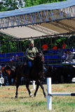 Horse riders competition Royalty Free Stock Photo
