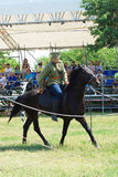 Horse riders competition Stock Photo
