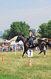 Horse riders competition Royalty Free Stock Photos