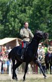 Horse riders competition Stock Photos