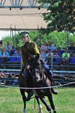 Horse riders competition Stock Images