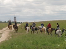 Horse riders Stock Photo