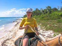 Horse riding Bayahibe stock photo