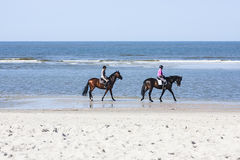 Horse Riding On The Beach, editorial Royalty Free Stock Photo