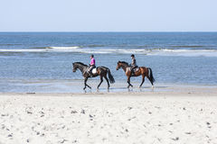 Horse Riding On The Beach, editorial Stock Photography