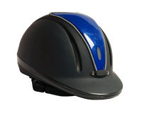 Horse riding black helmet  isolated Royalty Free Stock Photography
