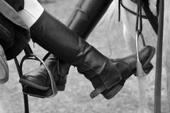 Horse riding boots stock image