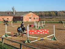 Horse riding centre Royalty Free Stock Images