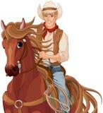 Horse Riding Cowboy. Illustration of horse riding cowboy Stock Photography
