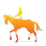 Horse riding design Stock Photo