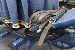 Horse-riding equipment. Close-up of horse-riding equipment for horse-drawn carriage stock photography