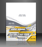 Horse Riding Flyer. & Poster Template Design Stock Image