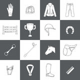 Horse riding objects Royalty Free Stock Image