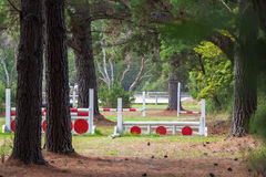 Horse riding obstacle course Royalty Free Stock Images