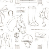 Horse riding pattern Stock Images