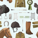 Horse riding pattern Royalty Free Stock Photography