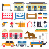 Horse Riding set Royalty Free Stock Images