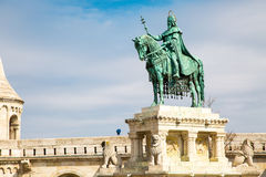 Horse riding statue of Stephen I of Hungary Royalty Free Stock Photo