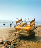 Horse riding tanga beside the Arabian Sea mumbai.  royalty free stock images