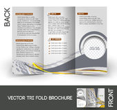 Horse Riding Tri-Fold Brochure Stock Images