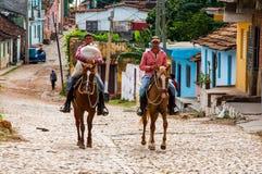 Horse riding in Trinidad, Cuba Royalty Free Stock Image