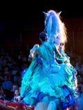 Horse riding woman at circus Royalty Free Stock Photography