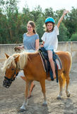 Horse riding. Royalty Free Stock Photography
