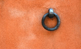 Horse ring on Tuscan wall Stock Photos