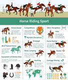 Horse Rising Infographics Royalty Free Stock Photos