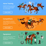 Horse Rising Sport Banners Royalty Free Stock Image