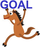 Horse's goal Royalty Free Stock Photo