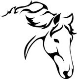 A horses head. Vector image of a horses head Royalty Free Stock Images