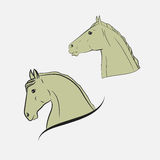 Horse's heads Royalty Free Stock Photo