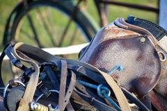 Horse Saddle And Tacks Royalty Free Stock Images