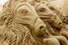 Horse- Sandart Stock Image