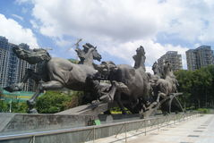 The horse sculpture landscape, in China Stock Image