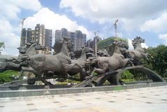 The horse sculpture landscape, in China Stock Images