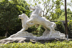 Horse sculpture in a park,chengdu,china Royalty Free Stock Photos